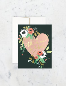 Thinking Of You Bouquet Heart Card, Idlewild Co.