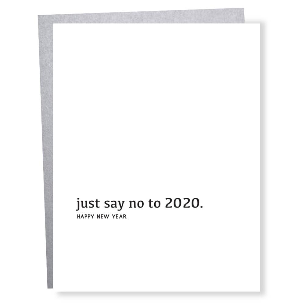Just Say No 2020, Sapling Press