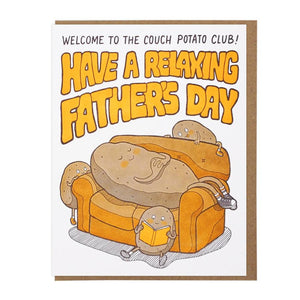 Couch Potato Father's Day Card, Lucky Horse Press