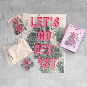 Let's Go Get Lost Puzzle, Print Club London + Luckies