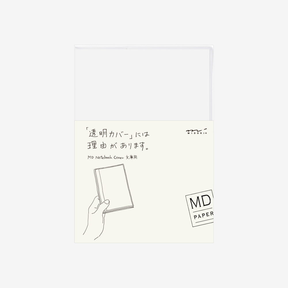 MD Notebook Clear Cover A6, Midori