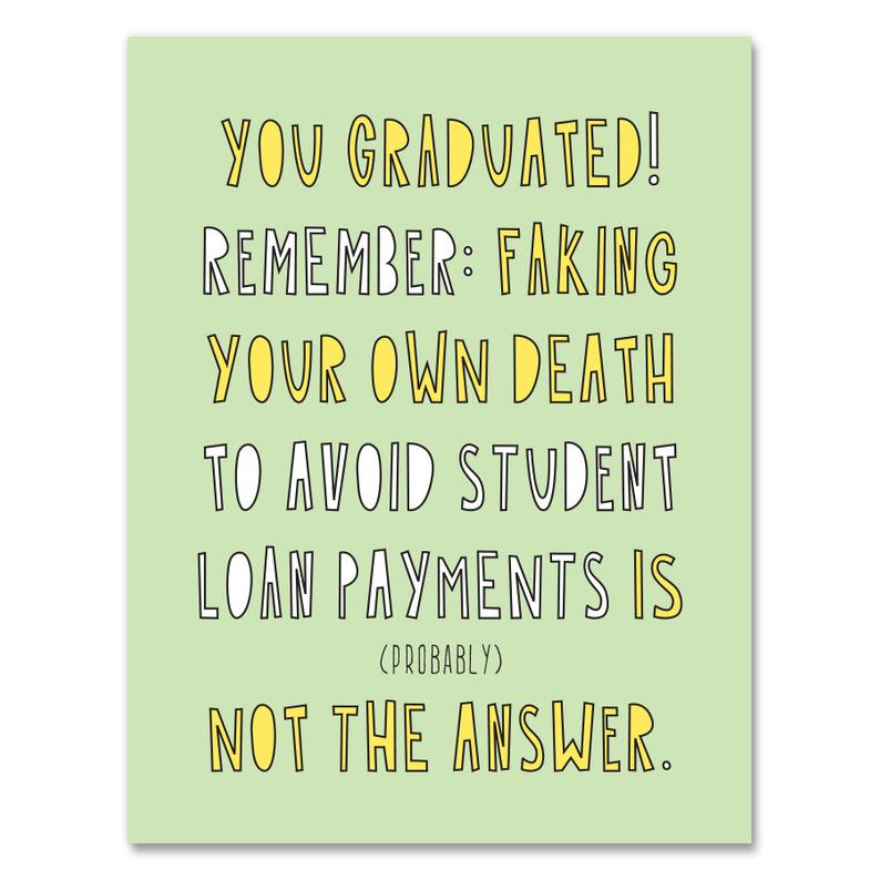 You Graduated! Card, Near Modern Disaster