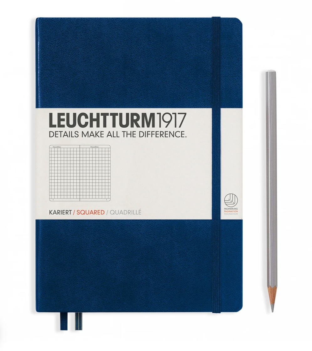 A5 Squared Hardcover Notebooks, Leuchtturm1917
