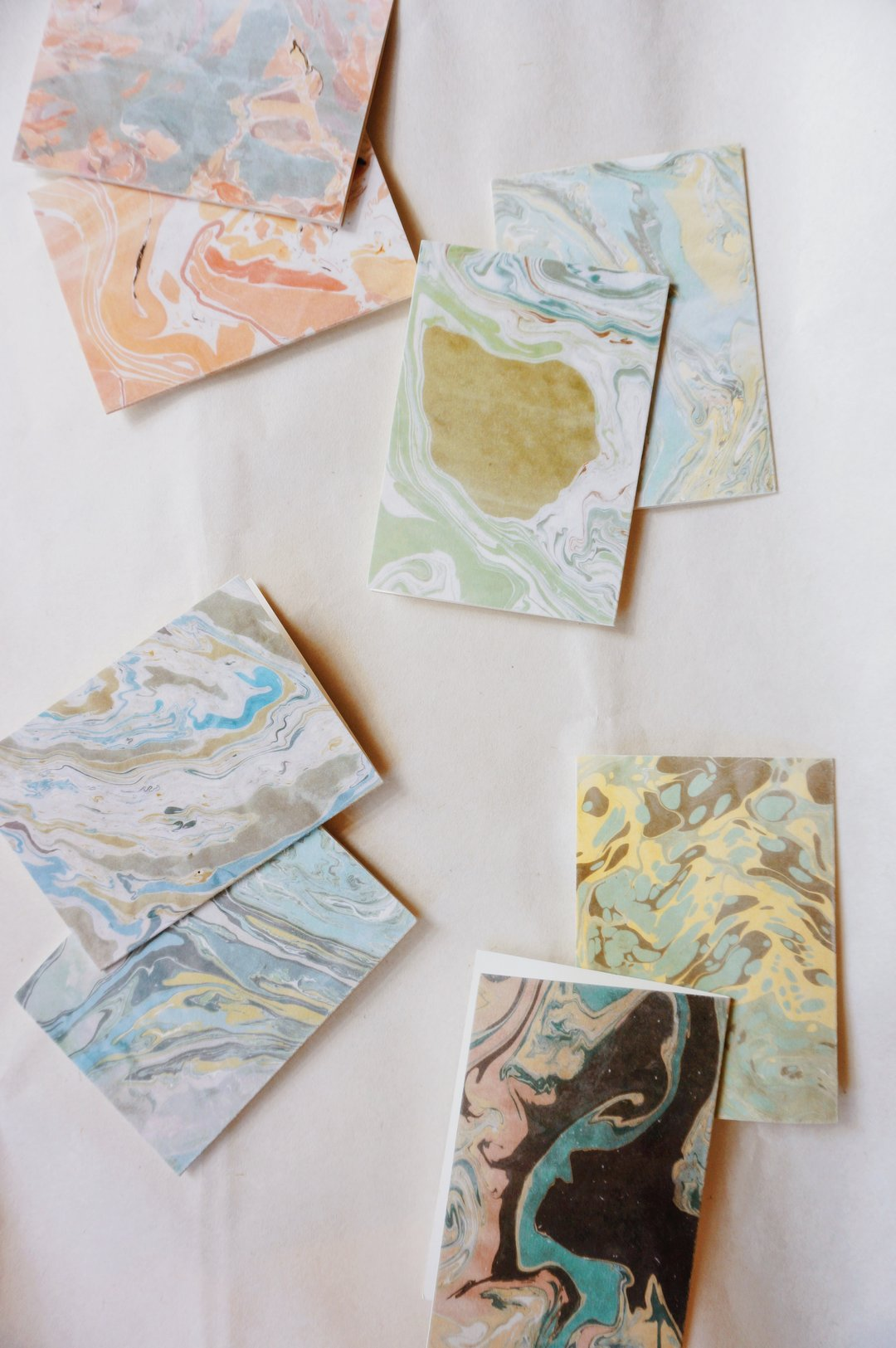 Marbled Cards (Set of 8), Odette Press