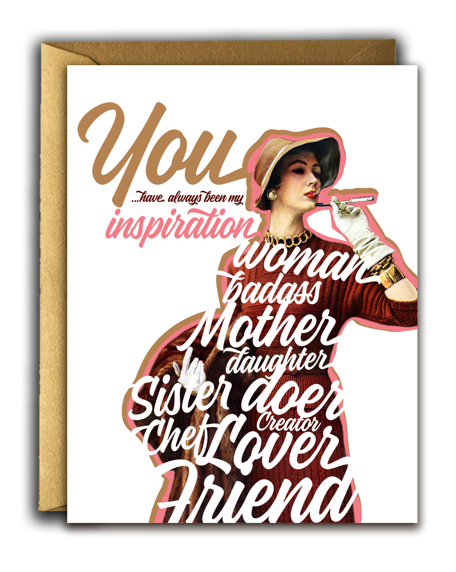 Inspirational Girl Card, Offensive + Delightful