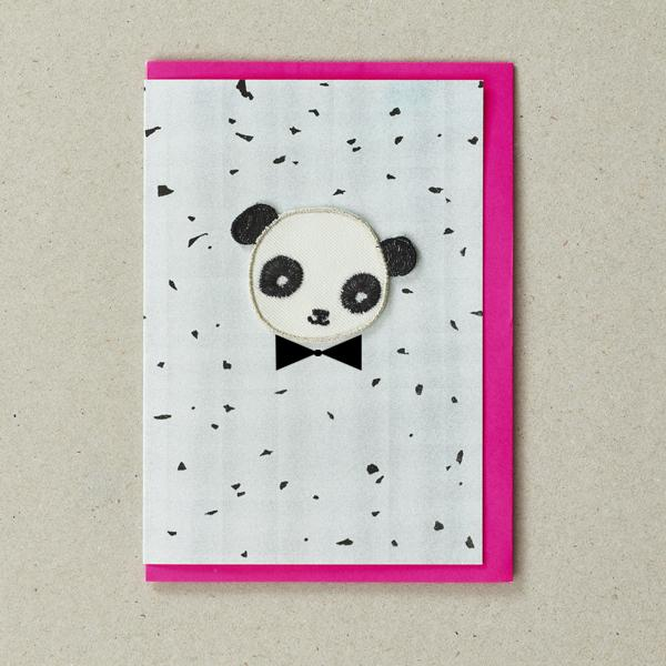 Iron-on Patch Card - Turquoise Panda, Petra Boase