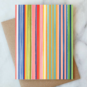Painted Stripe Blank Cards Boxed Set, Abigail Jayne Design