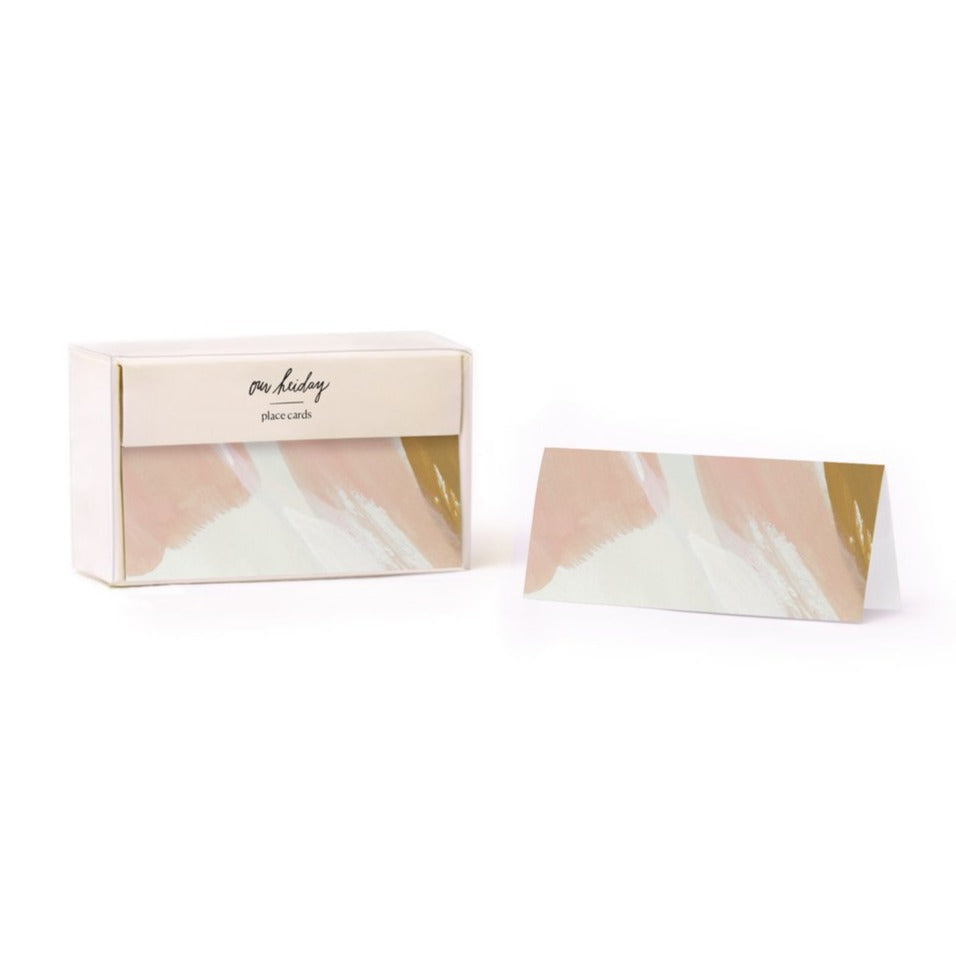 Peach Skies Place Card Set, Our Heiday