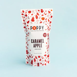 Poppy handcrafted popcorn caramel apple market bag