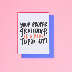 Proper Grammar is a Turn On, Craft Boner