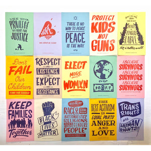 Protest Posters, Assorted Set