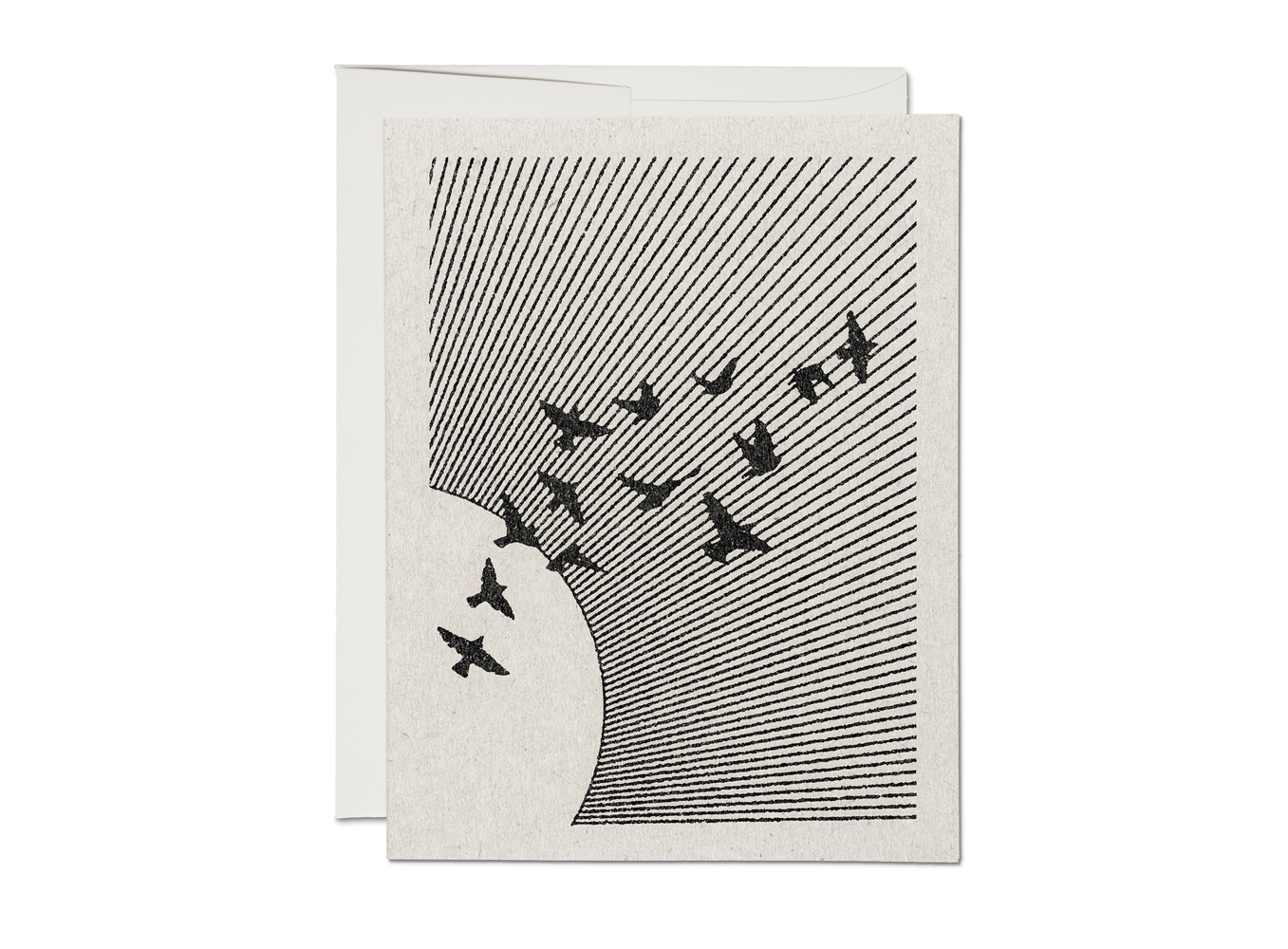Flock (Set of 8), Red Cap Cards