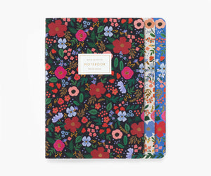Assorted Wild Rose Notebooks (Set of 3), Rifle Paper Co.