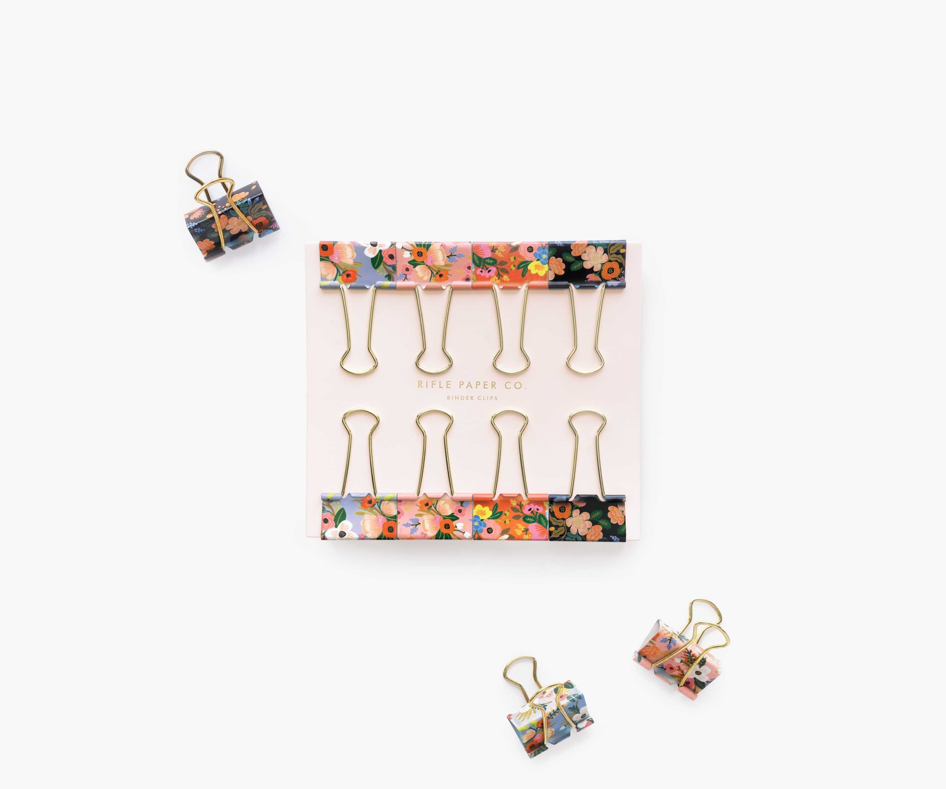 Lively Floral Binder Clips, Rifle Paper Co.