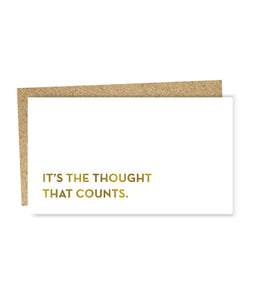 The Thought That Counts Mini Card, Sapling Press