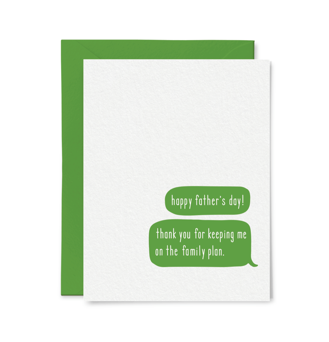 Family Plan Father's Day Card, Little Goat