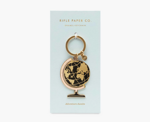 Globe Enamel Keychain, Rifle Paper Co.