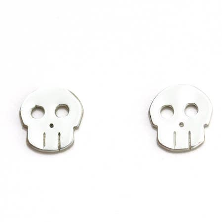 Skull Sterling Silver Studs, Upper Metal Class