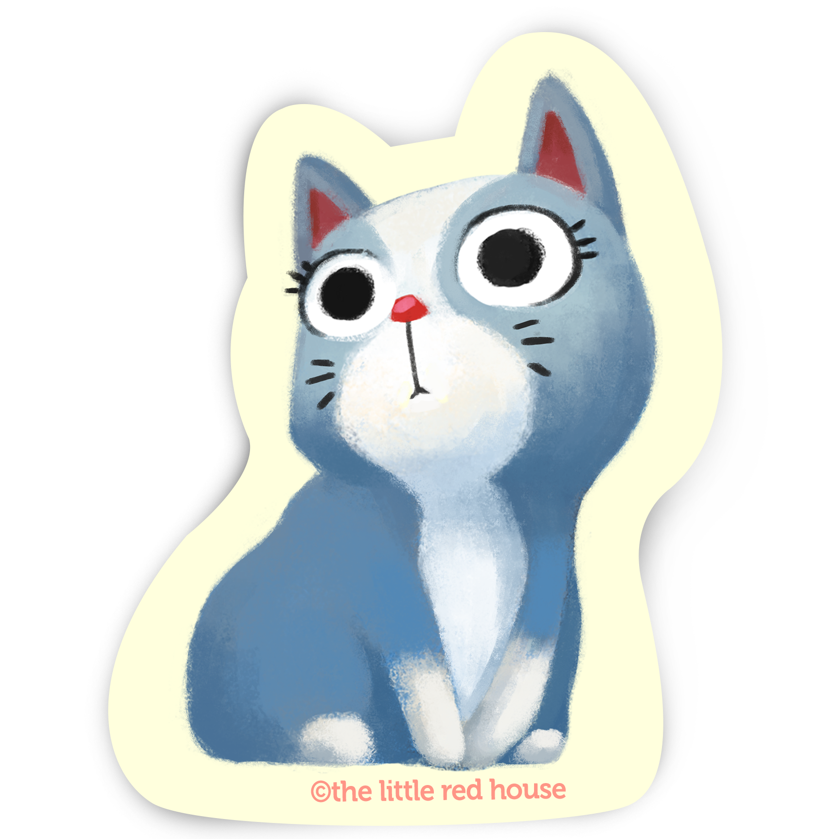 Blue Cat Sticker