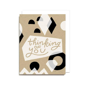 Thinking of You Geometric Card, Worthwhile Paper