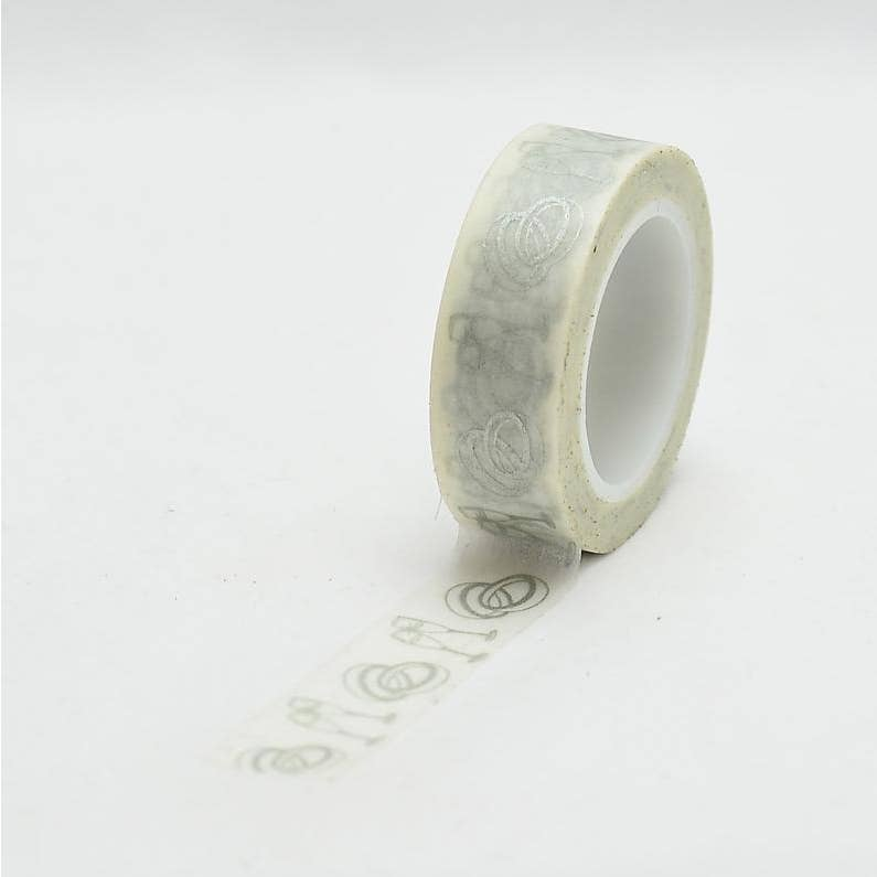 Wedding Ring & Glass Washi