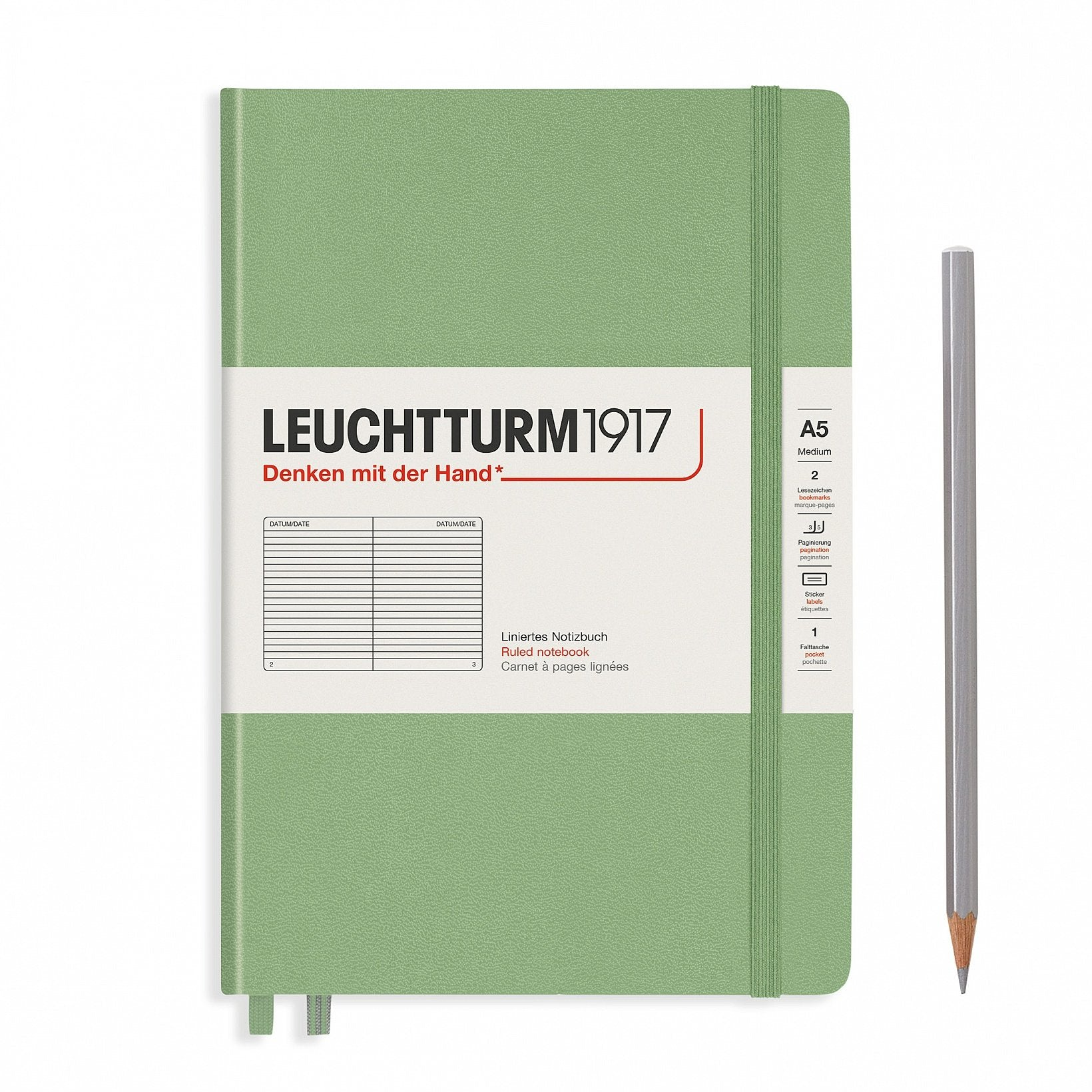 A5 Ruled Hardcover Notebooks, Leuchtturm1917