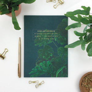 monstera, notebook, all the ways to say