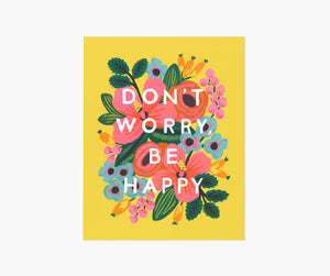 Don't Worry, Be Happy Art Print, Rifle Paper Co.