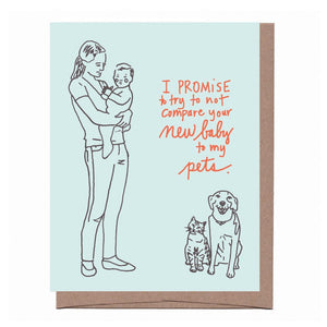 New Baby Promise Card, Familia Green