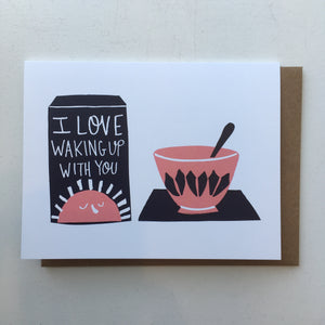 Breakfast Love Card, Badger & Burke