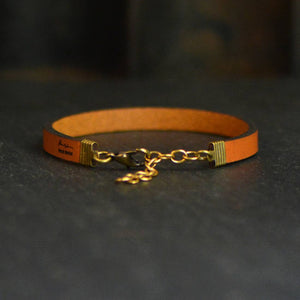 Inspirational Leather Bracelets, Laurel Denise