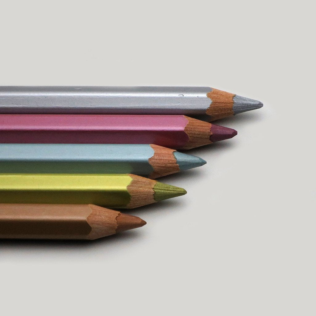 Metallic Jumbo Pencils, Caran d'Ache