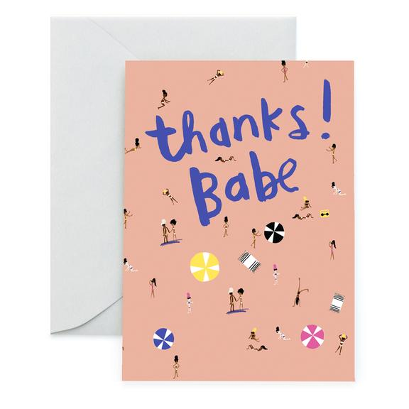 Beach Babe Thank You Card, Carolyn Suzuki