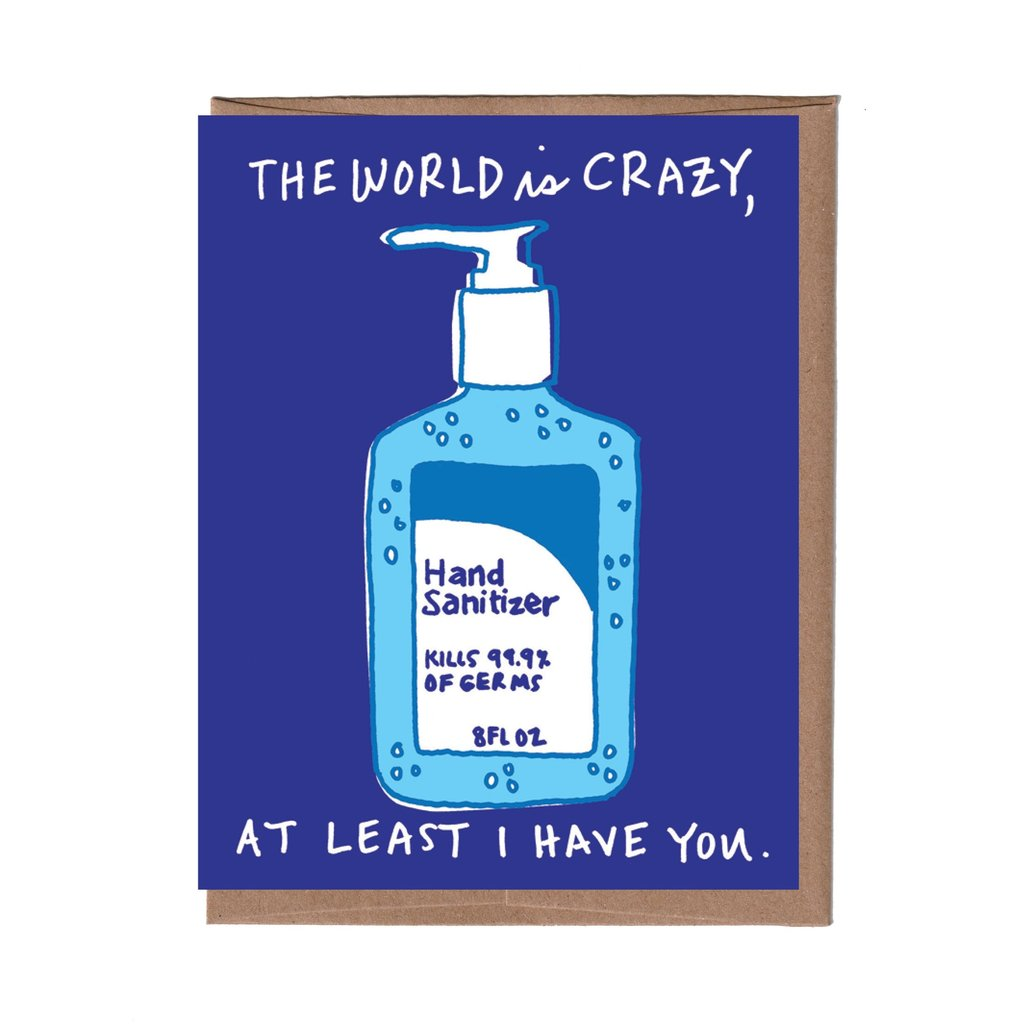 Hand Sanitizer Card, La Familia Green