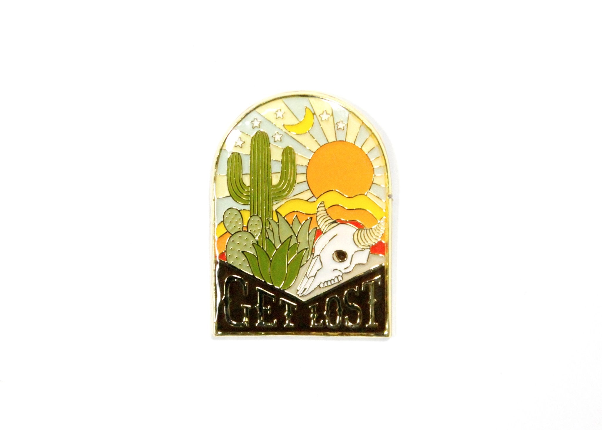 Get Lost Enamel Pin, Lucky Horse Press