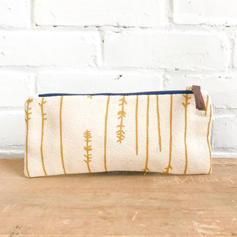 Gold Twigs Pencil Pouch, Erin Flett