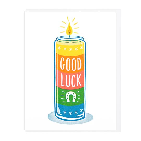 Good Luck Votive Candle Card, Lucky Horse Press