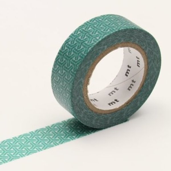 Hexagons Mineral Green Washi Tape