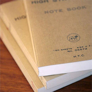 hightide puggy's best red blank notebook stack of three to show spine