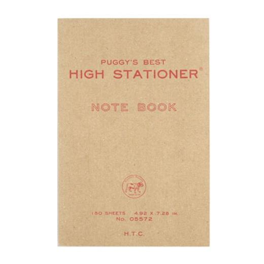 hightide puggy's best red blank notebook