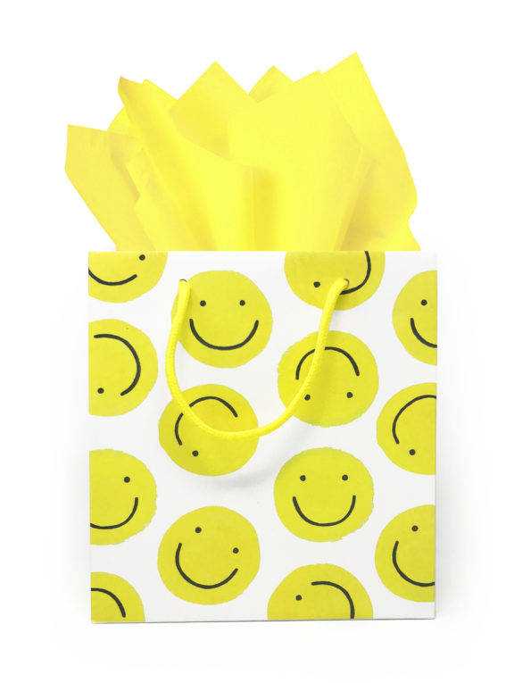 smiley faces, gift bag, idlewild co.