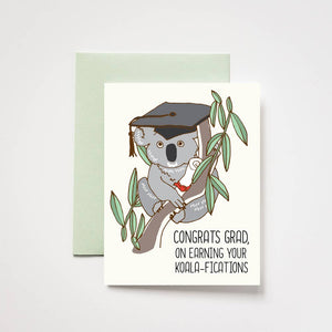 Koala-fications Graduation Card, ilootpaperie