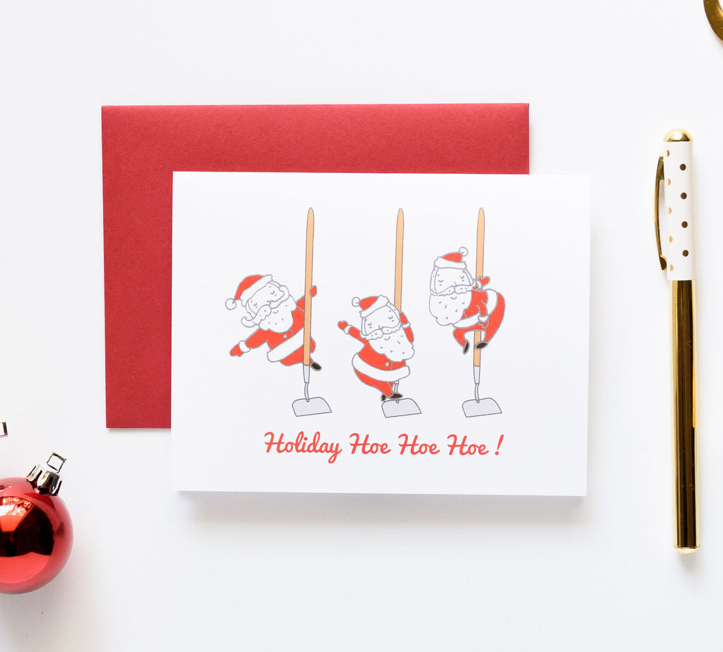 ilootpaperie, holiday, card, santa, humor