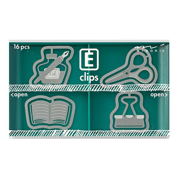 Stationery Etched Clips, Midori