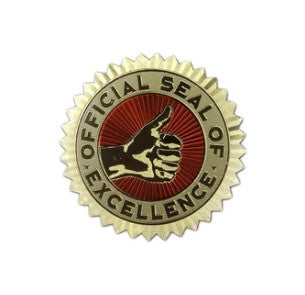 excellence sticker seals knock knock