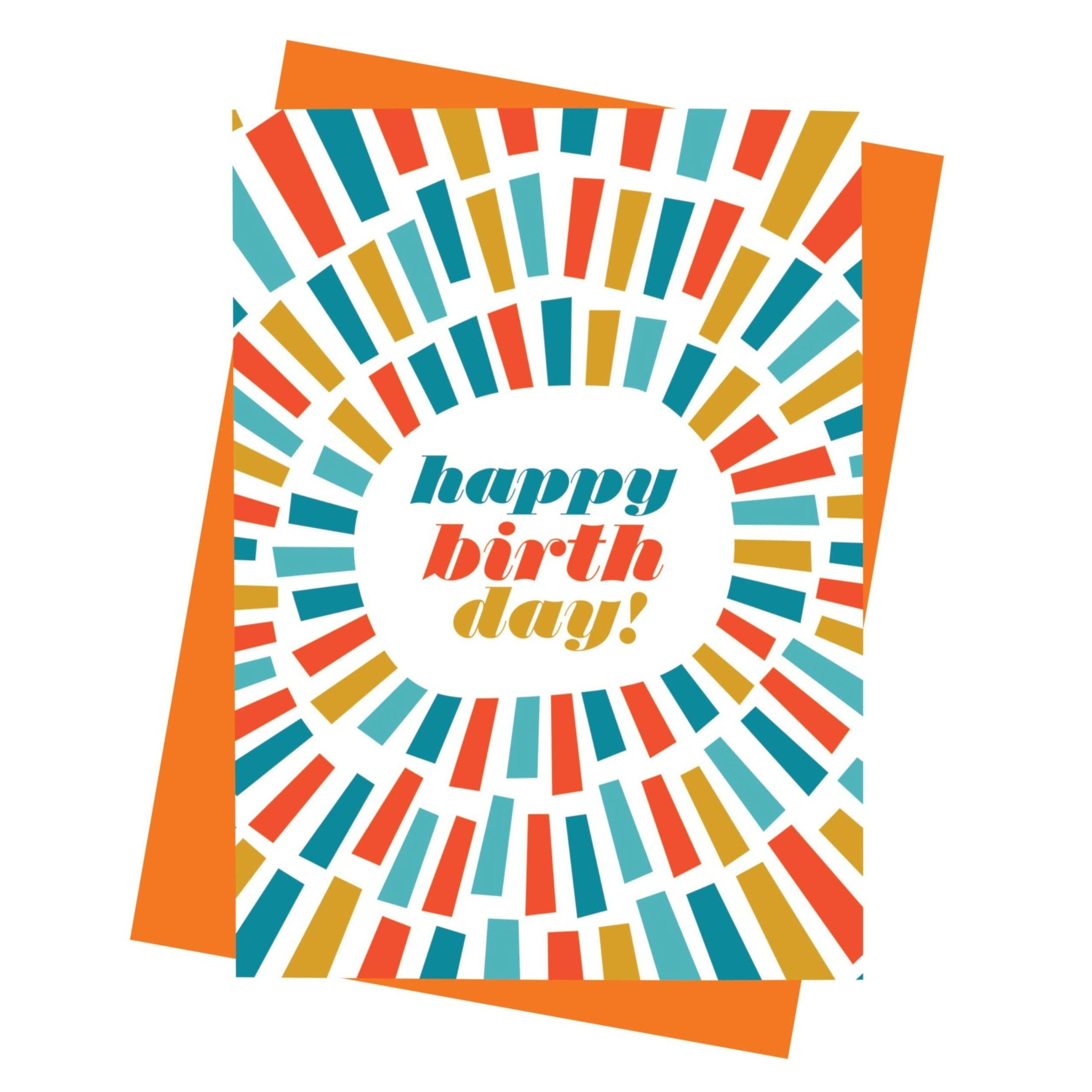 paisley paper co card happy birthday blue color burst