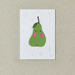 Pear Iron-On Patch, Petra Boase