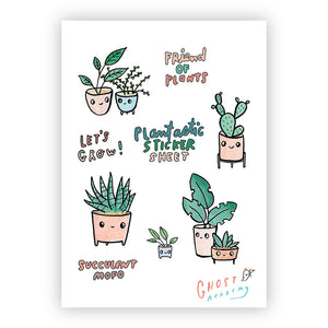 Plantastic Sticker Sheet, Ghost Academy