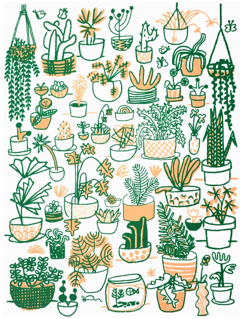 Plant Family 11x14 Print, People I've Loved