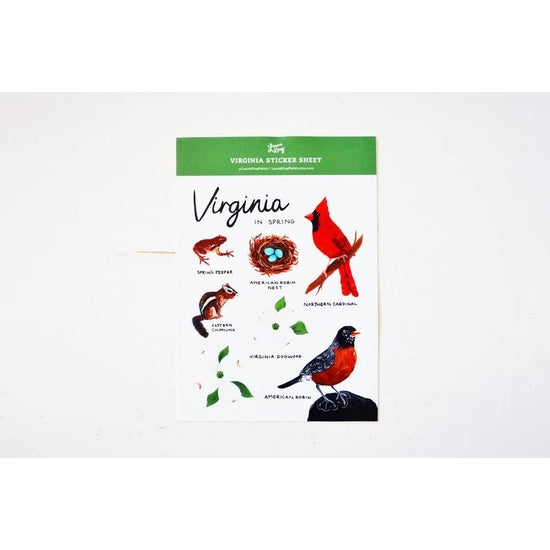 Virginia In Spring Sticker Sheet